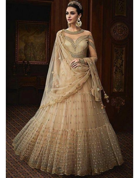Make your bridal fairytale comes to reality in this statement with this amazing #cream  #partywear #anarkali style suit @www.manndola.com  Grab Up To 65% OFF. Get additional 10% OFF on all orders above $199 using code EXTRA10 & extra 15% OFF on all orders above $299 by using code EXTRA15 !!   Ace the traditional style this wedding season in this Alluring Cream Partywear Anarkali Suit.A alluring cream anarkali Suit Comes with embroidered net kameez with dyed santoon inner and bottom.The stunning apparal comes with embroidered & four sided bordered net dupatta.  #newarrivals #newlaunch #partywear #anarkali #net #shoponlinenow #embroidery #eveningwear #reception #wedding #embroidery #style #photography #instamood #instaupload #fashion #indianfashion #ethnic #usa #india #canada #australia #dubai #uae #mauritius #london #uk #netherlands #paris #shoponlinestore