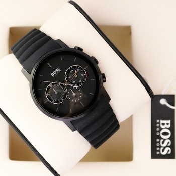 🌟 Hugoboss In-Stock & Ready to ship 🌟  # Hugoboss # For Men # Original Model # Features-Working Chronograph, with smart fit black strap & guaranteed original Japanese machinery  ✨ New Price updated and Free Regular Box ✨  Available @ Rs 3700+ship  🌟 Now with 6 Months Seller's Warranty for Machinery 🌟