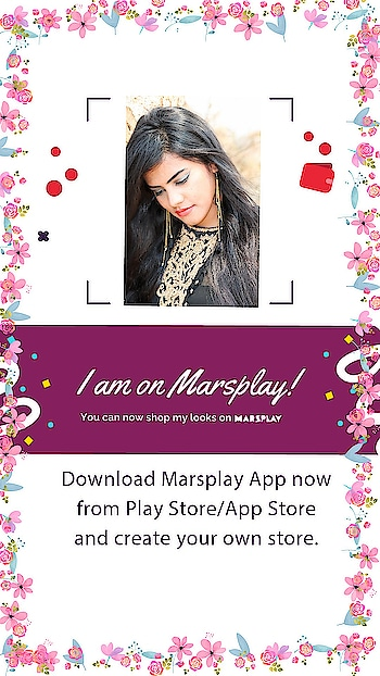 I am on Marsplay app now. Go shop my looks from the app and look fab  #bloggerstyle #fashionblogger #beautyblogger #fashion #beauty #fashiontips #beautytips #indianblogger #roposoblogger #roposo-style #roposgal #instalove #insta #sandhyareddy #that_vogue_soul