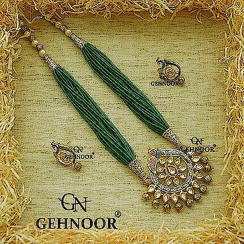 Green Peacock Beauties!! 👍👍 . Our design team wanted to create something that epitomizes the Beauty of Kundan with the Gorgeousness of Indian Intricate Designs. . And so we created these Stunning Kundan Studded Peacock Pendant Set with Gorgeous Green Beaded Strings! 💟😍 . We sure know these are hard to resist! 💎👍 . www.gehnoor.com 💻 . FREE SHIPPING anywhere in India 🚙 . Cash On Delivery Available across India 💲 . WhatsApp at 07290853733 📱 . www.facebook.com/Gehnoor/ . gehnoor@gmail.com 📝 . #bride #goldjewellery #kundannecklace #traditionaljewellery #wedding #destinationwedding #indianbride #photooftheday #instabride #bridalwear #bridaljewellery #tags #like #likeforlike #followfollow #followus #followback #gehnoor #peacock #kundan #meenakari #earrings #emerald #wedmegood #shaadisaga #usa #canada #uk #saudiarabia