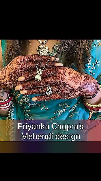 Priyanka Chopra's intricate Mehendi design is bride goals. Totally digging those traditional motifs! . . P.S. that bling is blinding gurl! 💍 . . .#priyankachopra  #nickjonas  #nickyanka  #celebritywedding  #indianwedings  #bollywoodwedding #bollywood  #priyankachopranickjonas #destinationwedding #bollywoodnews #filmistan #filmistanchannel #roposo-filmistan