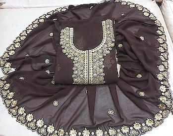 Top💐👕 jorjt material neck work with inner senton sillk Bottom👖💐 senton  Duptta💐 shiffon   Karachi Dupatta work Price 1399+$  No cod available  contact on 9860345951