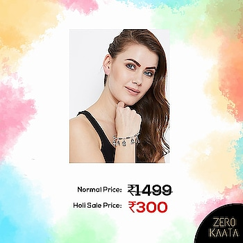 Who wants this beautifully crafted bangle bracelet?  Show of hands please👐  Shop at ZeroKaata's Holi Sale and Grab flat 80% off and FREE Jewellery with every purchase . . Shop at www.zerokaata.com now .  Hurry! Prices will be increased soon! . . #holisale #indiaonlineshopping #shoppinghub #assuredquality #holi #holi2019 #indianfestivals #holijewellery #jewelrystore #jewelrysale #anitquejewelryforsale #handmadejewelrysale #bohemianjewelryforsale #sterlingsilverjewelryforsale #artificialjewelryforsale #handcraftedjewelryforsale #fashionjewelryforsale #jewelryonsale #oxidizedjewellery #meenakariearrings #weddingjewelryforsale #costumejewelryforsale #affordablejewelry #bohojewelry
