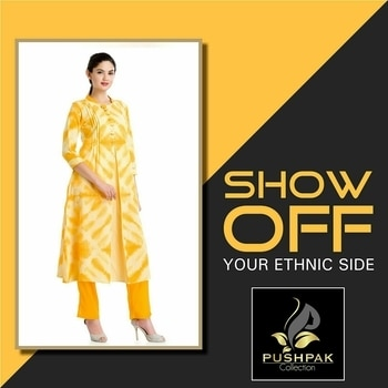Bring the #BestOfYou on ramp with monochrome ethnic sleek style. Show your grace and relish the attention.   Check out the new range of ethinc attires | www.pushpakcollection.com  Shop Our New Arrivals. Visit our Shop :  50, Janki Nagar Main, Near Jain Sthanak, Navlakha,  Indore (452001) +919425052565  #ChoiceOfTheDay #LookOfTheDay #Ethnic #EthnicLook #Fashion #ElegantKurtis #EthnicWear #NewCollection #Attire #Mansoon #PartyWear #NewArrival #LatestCollection #ColorOfTheDay #WomensClothingStore #ladiesKurti #Kurti #Kurta #DesignerKurti #Kurtishopping #Indore #UniqueStyle #Kurtis #KurtiWithPaint #RoyalCollection  #YellowKurti #EmbroideredKurti #OfficeAttire