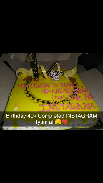 Birthday 40k Completed on INSTAGRAM ♥️🎉🎉🎉 #Birthday #40k #complete #instagram #Fam #tysm #all
