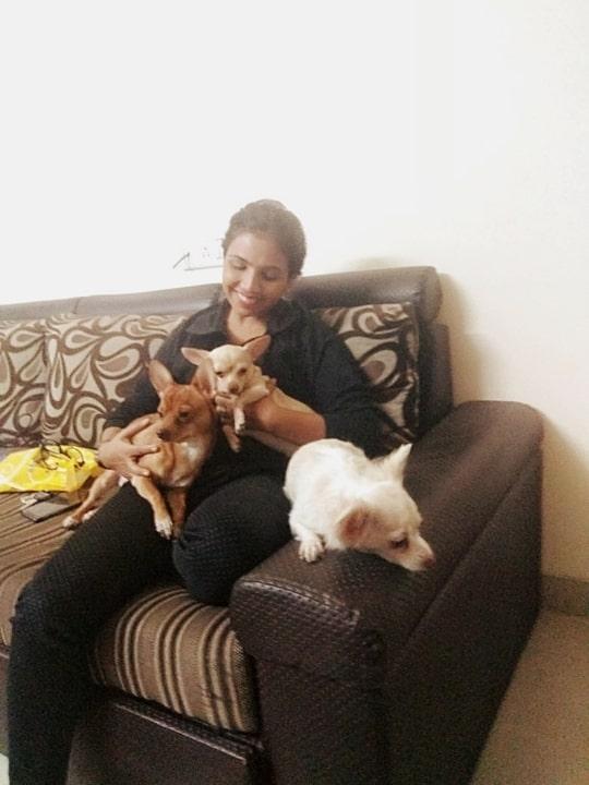 dog love# friends place n pets# feels amazing