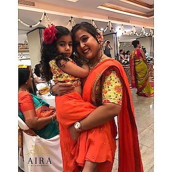 Introducing mother-daughter outfits! 💕 Mommy & her doll beautifully slaying this day wedding look by Aira. Make your occasion more memorable & get customized matching outfits for you & your daughter!! #aira #clientdiaries #happyclient #motherdaughter #motherdaughterfashion #twinning #outfits #motherdaughterlove #fashion #trends #trending #wedding #daylook #vibrant #colors #floral #design #elegance #indianwear #indianwedding #weddingdiaries #dmfororders #instamoms #instakids #kidsfashion #india #pune #mumbai #usa #love
