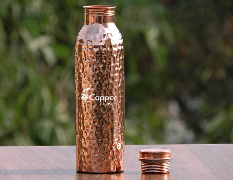 Pure Copper Water Bottle for Drinking Amazing Ayurvedic Water