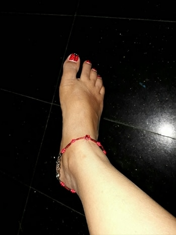 #anklet #red #nail-addict #singleanklet_rightfoot