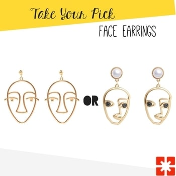 Face it! I'm hotter than ya. Pick your favorite face earrings . . . . . . . . . . . . . . . #takeyourpick #theredbox #crazysexycool #earrings #faceeaarings #lookbook #blingsale #bling #shineon #slay #girlboss #dailycrush #mysassygirl #happyshopping #fashionableaccessories #instafashion #girlshopping #shoppingexploring #neverwithoutmyaccessories #jewelryaddict #instagood #bestgrams #instasale