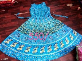 Trendy Jaipuri Designs Fabric: Cotton  Sleeves - Sleeves Are Attached Inside  Size: XL - 42 in, Length - 52 in  Type- Stitched  Work: Printed  Dispatch: 2 - 3 Days  #kurti #gown  #gowns