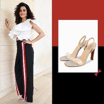 A burst of style and talent -  Taapsee Pannu spotted in #INTOTOs for an event . . .  #globaltrends #fashionforall #shoelove #trending #womenswear #designershoes #shoefie #daylook #newcollection #musthave #INTOTOxKOOVS #trendy #partywear #new #elegant #whatshot #weekendwear #stylefile #trends #newshoes #weekendfashion #party #strappys #funky #koovs #celebritypick #taapseepannu
