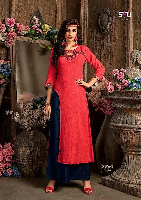 #NewUpcoming #DesignerKurtiWithBottom in our NewCollection is breathtakingly Elegant with a hint of Drama!  A modish kurti with dhoti/palazzo collection for you to stay in vogue.  #SwagVol2 #TopNBottom #DhotiPants #TulipPants #InstaFashion #Fusion #LuxuryCollection #PartyWear #latestcollection #latestwizecollection #kurtiwholesaler   Size: L-XL-XXL  Saturday onwards dispatching starts