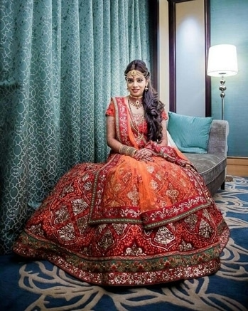 This bride is fully equipped with her amazing lehenga, matching jewellery & perfect makeup for her big day.  Get ready for your big day; Shop from WedLista.com for amazing bridal collection.  Captured by: @neetashankar  #WedLista #FashionForWeddings