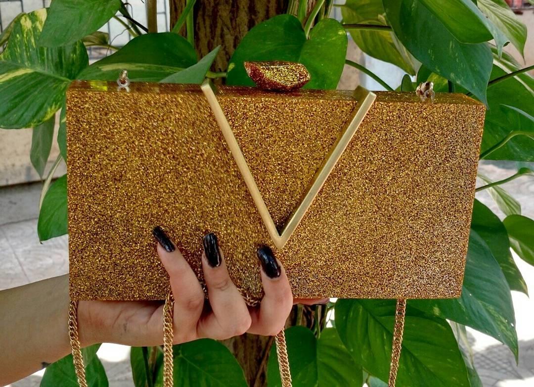 #bagzvela #rectangular #golden #resin #box #clutch #with #long #golden #sling #chain