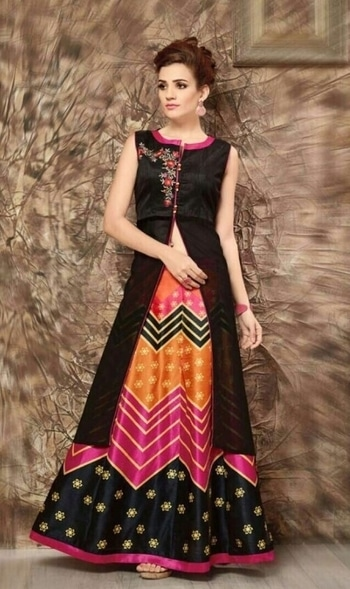 """INDOWESTERN for Women Fabrics details Top:- All mix fabrics (""""Banglori silk,bhagalpuri silk and faux georgette"""") Skirt :- All mix fabrics(Heavy silk satin digital print and banglori silk digital print) Inner :- American crape inner stiched. Work :- embroidery and hand work #indo #western #westernwear #indianfashion #outfit #trendalert #lookbook #women #lehenga #model #ethnic #collar #golden #antique #onlineshopping #shopping #lifestyle #indianfashion #outfit #trendalert #lookbook #women #lehenga #model #ethnic #collar #golden #antique #onlineshopping #shopping #lifestyle #indianfashion #outfit #trendalert #bloggerstyle #bloggerlove #bloggerdiaries #india #shoppingtips #shoppingonline #shopnow #tips #choker #onlineshopping #shopping #lifestyle #indianfashion #outfit #trendalert #lookbook #women #lehenga #model #ethnic #shopping #lifestyle #indianfashion #outfit #trendalert #lookbook #women #lehenga #model #classy #luxury #highclass #drop #coin #silver #full #women #buy #onlineshopping #indian #golden #antique #onlineshopping #shopping #lifestyle #indianfashion"""