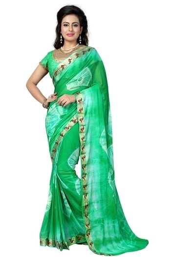 """Product Description  Saree Fabric : Nazneen , Blouse Fabric : Brocade Saree Length – 5.50 Meter ; With Readymade Blouse Package Content-1 Saree With 1 Blouse Piece DECLARATION – Buy ORIGINAL London Beauty products from the seller """"London Beauty"""". Product color may slightly vary due to photographic lighting sources or your monitor settings. WASH CARE : DRY CLEAN ONLY"""