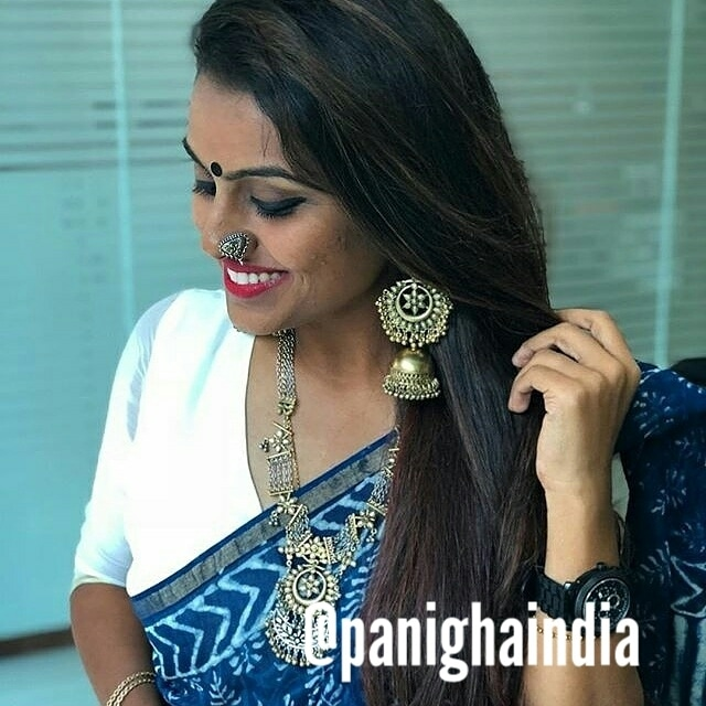 @swatimukund looking stunning in Panigha India accessories - dual tone Kareena Neckpiece, Jhumka, dual tone big Nosepin.   #panighaindia #panigha #mumbaifashion #mumbai_igers #bombayfashion  #mumbai  #jewellery  #accessories  #accessoryoftheday #accessoriesforsale  #neckpiece  #jhumkas  #earrings  #nosepins  #indian  #india #indianwear  #fashion  #style #love  #indianfashion  #portrait  #accessorieslovers #jewellerylove   #jewelleryoftheday #accessoriesaddict  #igers  #igersindia