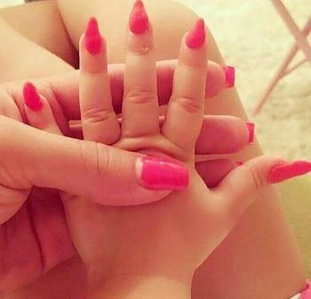 #nails #babypink #ropo-love #lil #hands