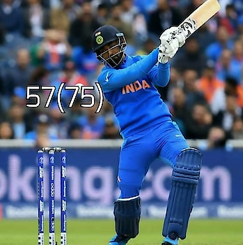 Brings up his 50 With a Six ! . A great Partnership of 137 runs  Bw Rahul &Rohit Sharma Comes to an End ! #Klrahul #RohitSharma #Cwc19