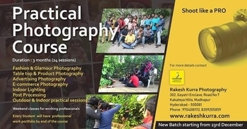 Learn Photography from the professional #RakeshKurra #FashionPhotography #indoorPhotography #lighting #advertising #glamour #BestphotographyschooHyderabad #bestphotographyschool #Bestphotographyinstitute #Camera #LearnPhotography #Photowalk #PhotographyClasses #Photography #workshop #PhotographySchool #PhotoSchool #photostudio #studioshoot #lighting #Photographers www.rakeshkurra.com