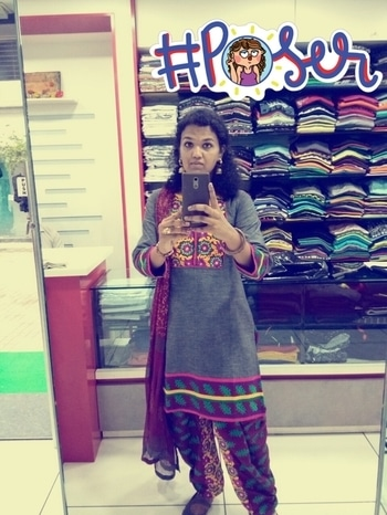 #ethnic-wear #punjabidresses #roposotalenthunt #fashion #mirrorselfie #poser