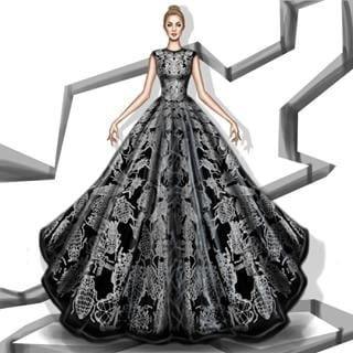 black dress #designer