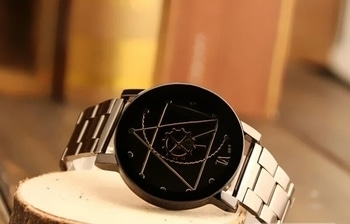 Alloy Metal Strap chain Round dial Quartz watch  Price: 550+ Shipping