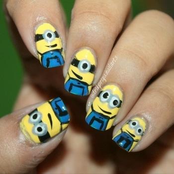 #minions #minionsnails #nailart #nailartoftheday