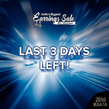 """😱 Last 3 Days Left 😱 . . ❤"""" A Never Before Event, Grab Your Favourite Earrings at Flat 80% Off """" 🏃🏃🏃 . . INDIA'S BIGGEST EARRING'S SALE only on """"ZEROKAATA"""" 😍😍 . SHOP NOW for Unique and Skin Friendly Designs at Flat 80% Off . . Visit www.zerokaata.com . . #jewellery #jewelry #jewelrysale #jewellrydesign #earringsale #earringshop #earringsogood #giveaway #fashionblogger #jewelleryshop #JewelleryBlog #sales #NecklaceHandmade #earringshandemade #jewelrymaking #jewelleryaddict #jewellerygram #jewellerysale #IndiasBiggestJewellerySale  #sale #dresses"""