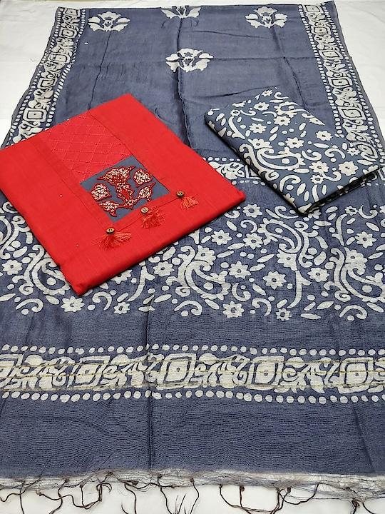 980+$... satian cottan top   hand work with prints. Work cottan satin bottom cottan satin batik duppta SD
