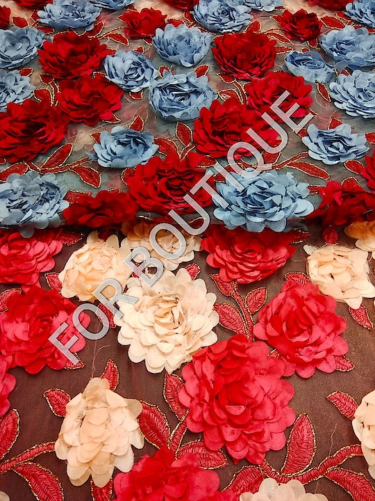 Fabric - Net DM for inquiry or order WhatsApp no +91-8511248636.  #forboutique  #fabric  #fabrication  #3dflower #netfabricsuit #sheer #trendy  #trendyfashion #trendylook #ropo-style  #madeinindia #ropo-love #happyvibes