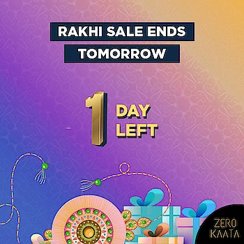 #rakhisale will end tomorrow!  This is your #lastchance to get upto 80% off across website and a free beauty kit with every order of Rs 499 and above  Visit www.zerokaata.com to shop now  #zerokaata #tribalbyzerokaata #rakhigifts #rakhigiftsforsister #giftsforrakhi #rakshabandhanspecial #rakshabandhan #rakhi2019 #rakhigiftforsister #rakhigiftstosister #rakhigiftsforsisterunder500 #rakshabandhangifts #festivaljewelry #festivaljewellery #festivecollection #festiveseason #festivalfashion #festivevibes #giftsforwomen #giftsforgirls #giftsforyounow