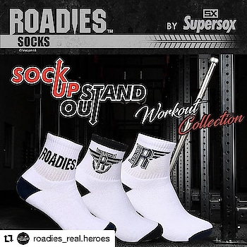 #Repost @roadies_real.heroes (@get_repost) ・・・ Find the all new work out collection of #RoadiesSuperSox. Challenege yourself each day. Sock up, Stand Out. Get the #RoadiesSocks by @supersox_india now available at : https://goo.gl/yJmegU  # #Socks #RoadiesSocks #SuperSox #RoadiesSuperSox #RoadiesCollection . . Follow for more (@roadies_real.heroes ) Follow for more (@roadies_real.heroes ) Follow for more (@roadies_real.heroes ) Turn on post notification to never miss any update #rannvijaysingha #princenarula #rannvijay #prince #realityshow #mtv #mtvindia #roadiesrealheroes #mtvroadiesrealheroes #MTVRoadiesXtreme #MTVRoadies #RoadiesXtreme #Roadies