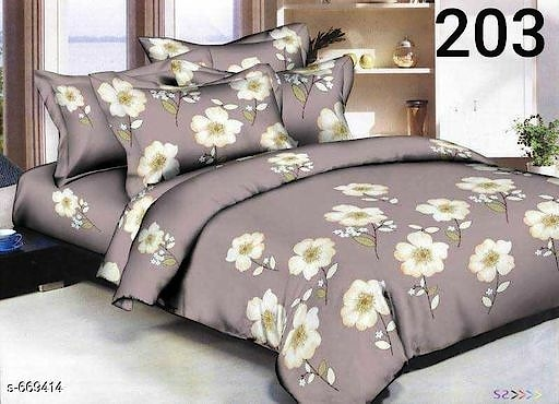 Ubania Collection Indie Printed Glace Cotton Double Bedsheets Vol 1 Fabric: Bedsheet - Glace Cotton , Pillow Covers - Glace Cotton   Dimension: ( L X W ) - Bedsheet - 90 in X 100 in, Pillow Cover - 27 in X 17 in  Description: It Has 1 Piece Of Double Bedsheet With 2 Pieces Of Pillow Covers  Work: Printed  Thread Count: 160  Dispatch: 2 – 3 Days