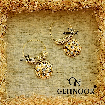 We just can't seem to have enough of Hoop Earrings which are a definite must have in every Jewellery Collection! . These Hoops are embellished with Fine Pearls and Pretty Kundan Stud Hangings to give it the perfect ethnic and Chic Touch 💖💚 . www.gehnoor.com 💻 . FREE SHIPPING anywhere in India 🚙 . Cash On Delivery Available across India 💲 . WhatsApp at 07290853733 📱 . www.facebook.com/Gehnoor/ . gehnoor@gmail.com 📝 . #bride #goldjewellery #kundannecklace #traditionaljewellery #indianbride #photooftheday #instabride #bridalwear #bridaljewellery #tags #like #likeforlike #followfollow #followus #followback #gehnoor #earrings #chandbali #kundan  #usa #canada #uk #saudiarabia #uae #choker #hoop #hoopearrings #jewelrydesigner #statement #statementearrings