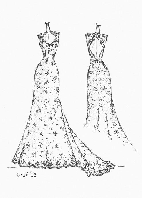 Designer #fashiongram #designer #dress #illustration #sketchinglove