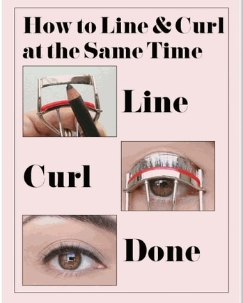 How to line and curl at the same time #beautyhack #timelessfashion  #eyemakeup P.c. Google