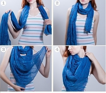 Don't we sometimes feel too bored of wearing the same T-shirt and top evertime.? Why not add some fun to them with scarves? Check some amazing ideas here: http://www.glamtainment.com/how-to-make-every-dress-look-better-with-just-one-detail/ #scarf #style #styletips #dressideas