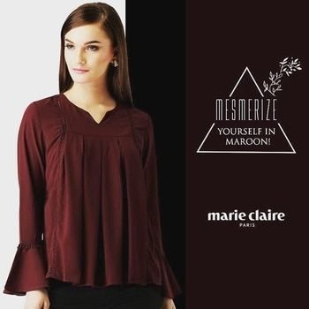 This solid A-line maroon top will be your saviour when your wardrobe fails you. Shop now at http://bit.ly/2utMU4E   #maroontop #aline #maroon #ootd #outfit #outfitoftoday #insta #be-fashionable #fashion #top
