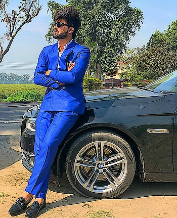 #inderchahal #blue-coloured #indian suits #filmistaan #rops-style #fasihonblogger #tattoolove #stayhappy