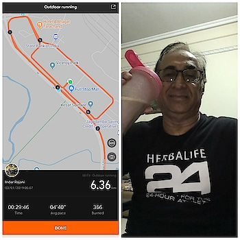 Started my morning with cycling followed by chilled HERBALIFE CHOCOLATE #SHAKE #letmechoachyou #shapeitup #newyearresolution #loseweight #inchloss #bodytransformation #wellnesscoach #sunrisenutritionhub