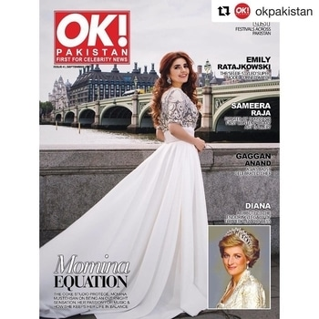 mominamustehsan#Repost @okpakistan (@get_repost) ・・・ OK! Pakistan's #September issue features cover star @mominamustehsan , the talented #CokeStudio protégé talks about her passion for #music, keeping her life in balance and being an overnight sensation. This month, we give special coverage to the #People'sPrincess, #Diana, as her memory lives on #20years after her death. In addition to this, one of Asia's most celebrated chefs, #GagganAnand, talks about the culinary world and curator Sameera Raja @gallerycanvas talks about her journey through the Pakistani art world. #Supermodel, actress and social media phenomenon, #EmilyRatajkowski discusses Instagram, feminism, confidence and staying true to herself. Our September issue features a list of celebrated Pakistani festivals across the country and our fashion pages will update readers on all the Fall fashion must-haves. All this and more in OK! Pakistan's newest issue! Outfit @zefaith_couture  Jewellery @fehmidalakhany  Photography @adnanqazi  Styling @zafshabir  Hair & Makeup @lubnarafiq #grabyourcopy #dontmiss #mustread #getitnow #fashion #beauty #lifestyle #okpakistan #okmagazine