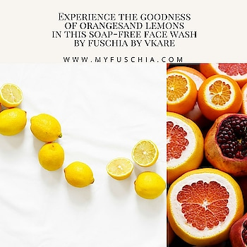 Enjoy the freshness of #citrus fruits in your #facewash and #bodywash from #fuschia. #chemicalfree #crueltyfree #nottestedonanimals #madeinindia #natural #handmade #skincare #spotlykmedia