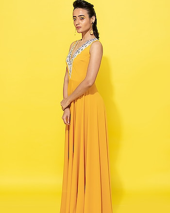 Brighter your choices, stronger your statement!!! Our mango maxi which is comfortable and effortlessly stylish arrives with its signature Spot embroidery detailing and makes a perfect addition to your destination welcome lunch!!! Don't miss #spotbynityabajaj this summer 🌻 #springsummer #mango #yellow #spotsr19 #spot #summerresort19  www.nityabajaj.com