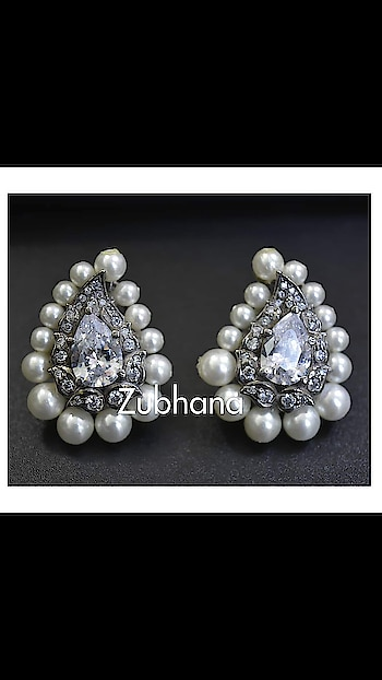 Paisley shape , diamond and pearl stud earrings.   Contact 8860974879 for details #zubhana  #timelesstreasures #zubhana_jewellery  #paisleypop  #earrings  #studearrings  #jewelrylover  #daily  #statementearrings  #classicstyle  #elegant   #diamonds  #earringsoftheday  #officewear  #grandjewellery  #cocktaildress  #christianwedding  #brides  #bridaljewellery  #bridaljewels