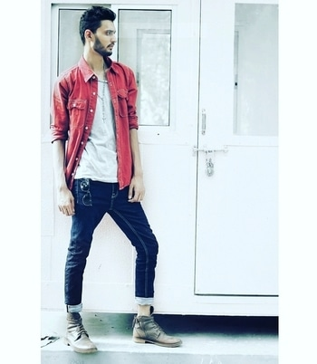 when you rock on basic 😘 #koovsman #top-koovsfashion #ucb #benetton #abercrombieandfitch #leecooper #bootslove #denimshirt #menshirts #blue #basic #denim #men-fashion #bloggerindia #mensfashionpost #summer-style #ootdshare #roposo #shorthairdontcare #beard