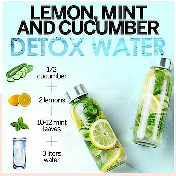 Give a healthy twist to your regular drinking water and infuse your body with hydration and nutrients. #stayfit  #stayhealthy #diy  #beautytips #hydrateyourskin #beyoutiful #detoxwater #clearskin