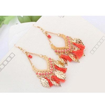 #fashion#accessoreries#peach#tassels#earrrings