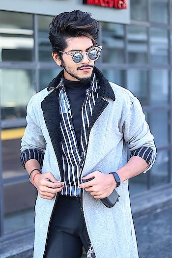 CALL IT COOL GREY ! . . COAT BY - @fugazeeinc . . Shot by - @callisto_studio . . #tsd  #tsdfam  #tsdstyle #thestyledweller  #mensfashioninfluencer  #mensfashion  #menswear  #fashion  #coat #fugazee #streetstyle  #trend #ootd #instafashion #men #suratinfluencer  #suratblogger #indianblogger  #indianinfluencer  #surat #india